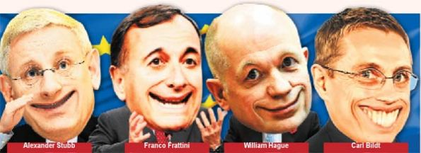 Carl Bildt, Franco Frattini, William Hague ve Alexander Stubb